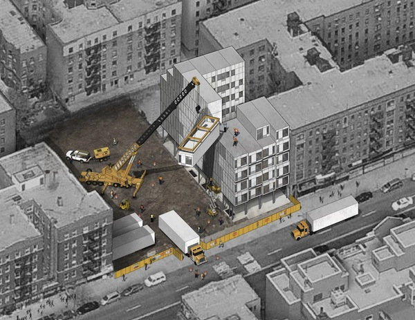 Watch A NYC Prefab Building Being \'Stacked Up\' Like LEGO Bricks ...