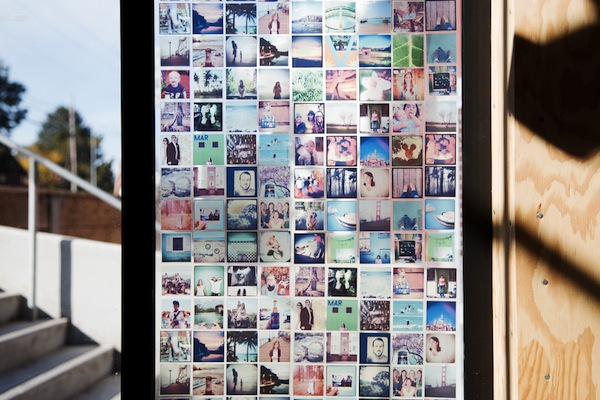 A pretty stained glass window made of instagram pictures for Make your own stained glass window film