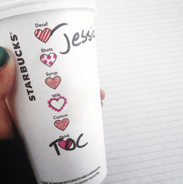 For Valentines Day Starbucks Adds Sweet Heart Symbols To Its