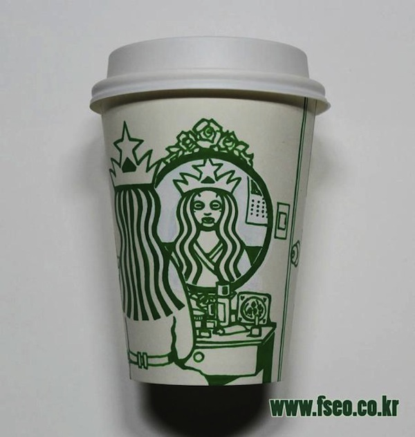 Artist Draws On Starbucks Cups Turns Mermaid Into Different Characters