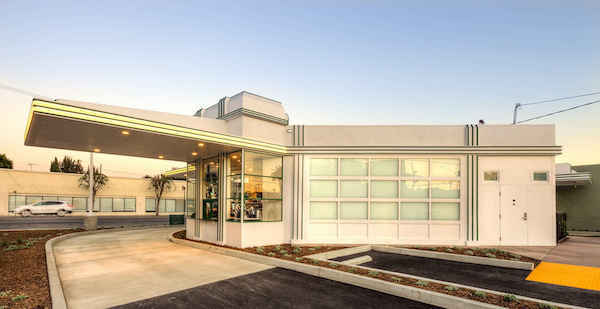 Starbucks Restores 1930s Hollywood Gas Station Into A
