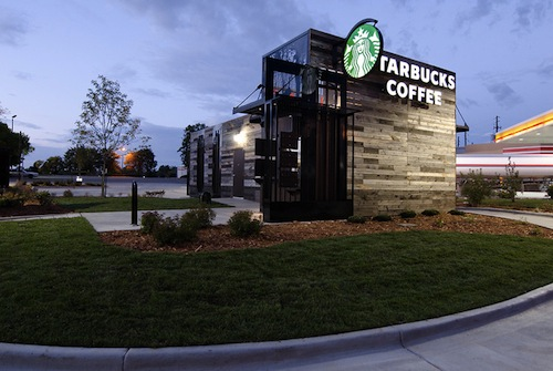Starbucks Creates Portable Drive Thru Coffee Shop