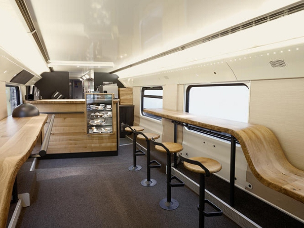 Mobile Starbucks Store In A Train Lets You Enjoy A Cup Of