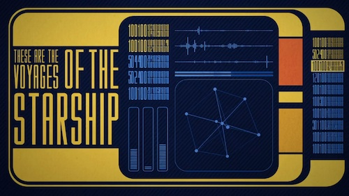 Intro Of Star Trek Recreated, Using Minimalistic Graphics And Typography -1491