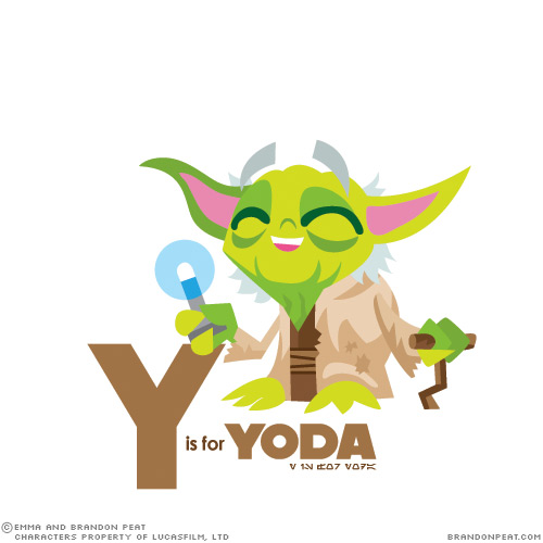 Yoda Character Design : Teach the alphabet to your child with star wars characters