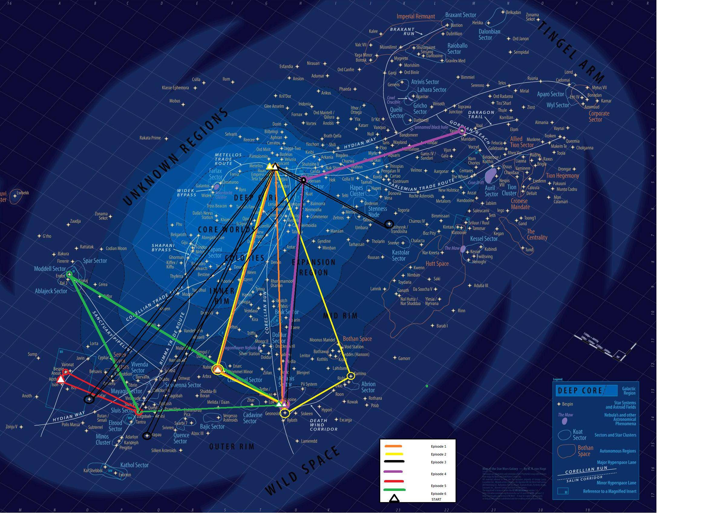 Star Wars Universe Map An Epic, Unbelievably Detailed Map Of The 'Star Wars' Galaxy