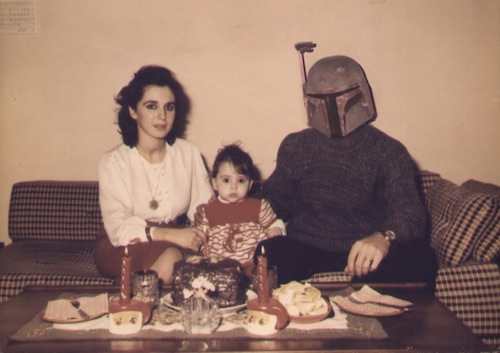 Vintage Family Album Pictures X Star Wars Mash-Up