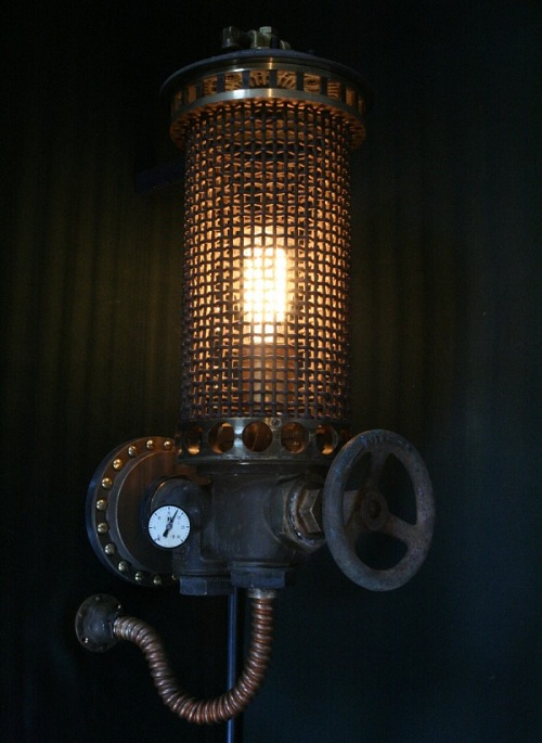 Junk Light Steampunk Styled Lamps DesignTAXIcom