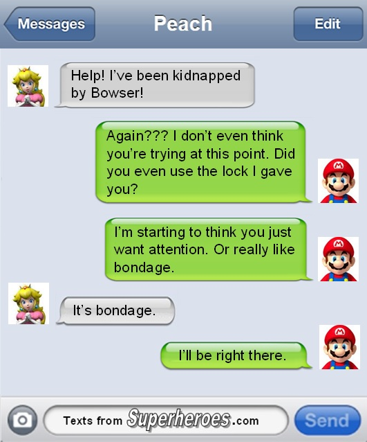 liam thinks!: the text messages superheroes would send if they, Ideas