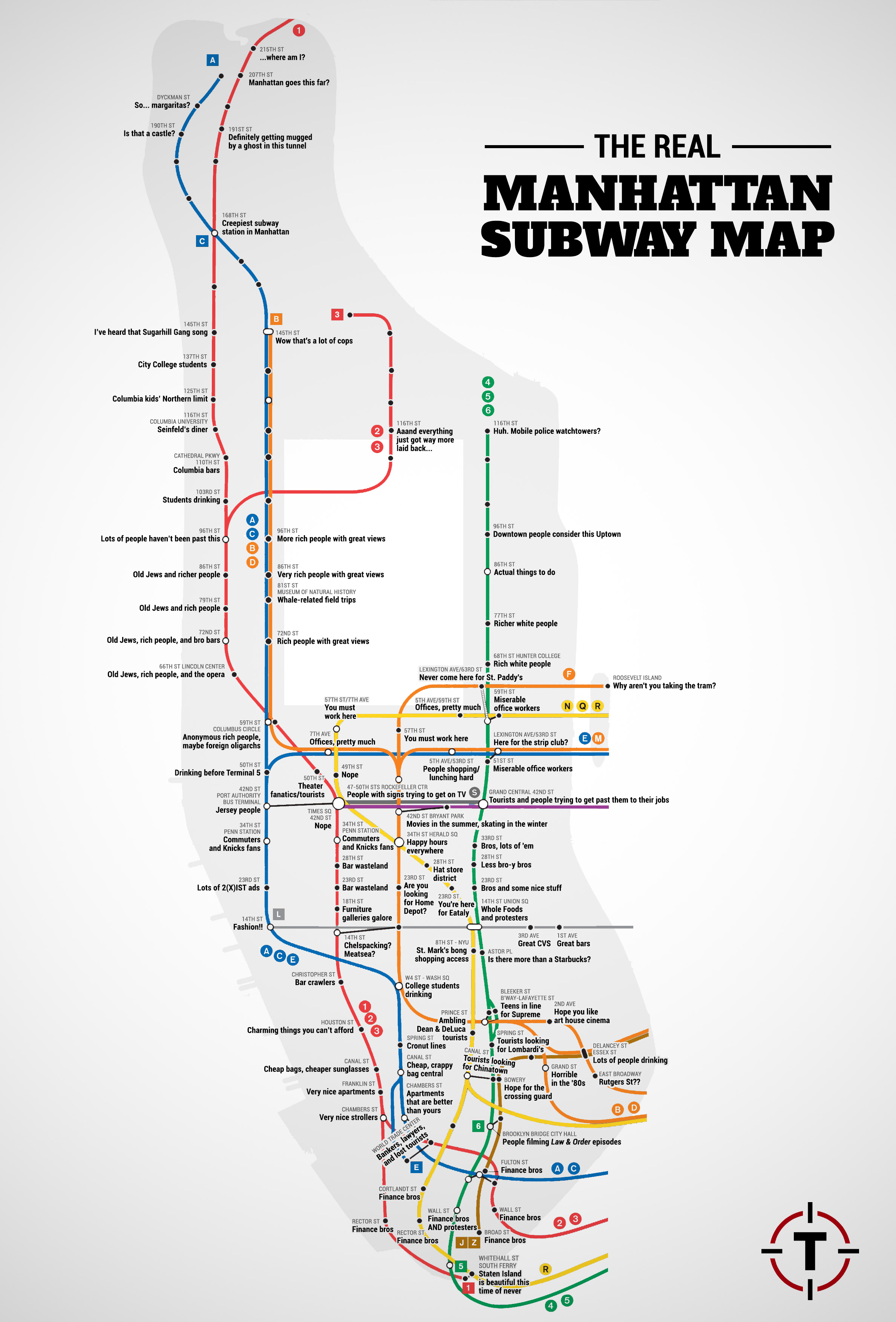 New York Subway Map Mobile.Funny Subway Map Sums Up The Typical Commute Across New York City