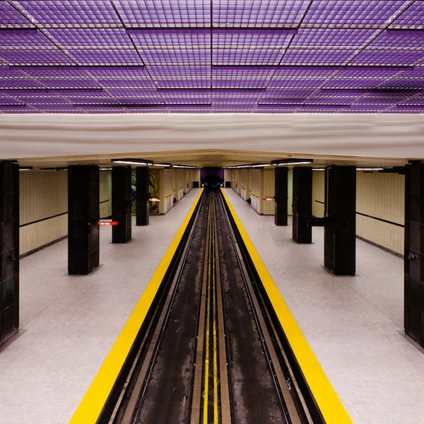 Gorgeous Photographs Of Subway Stations Taken From The Same Perspective