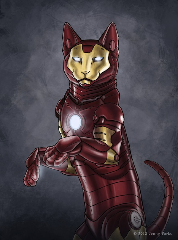 What Superheroes Would Look Like If They Were Cats - DesignTAXI.com