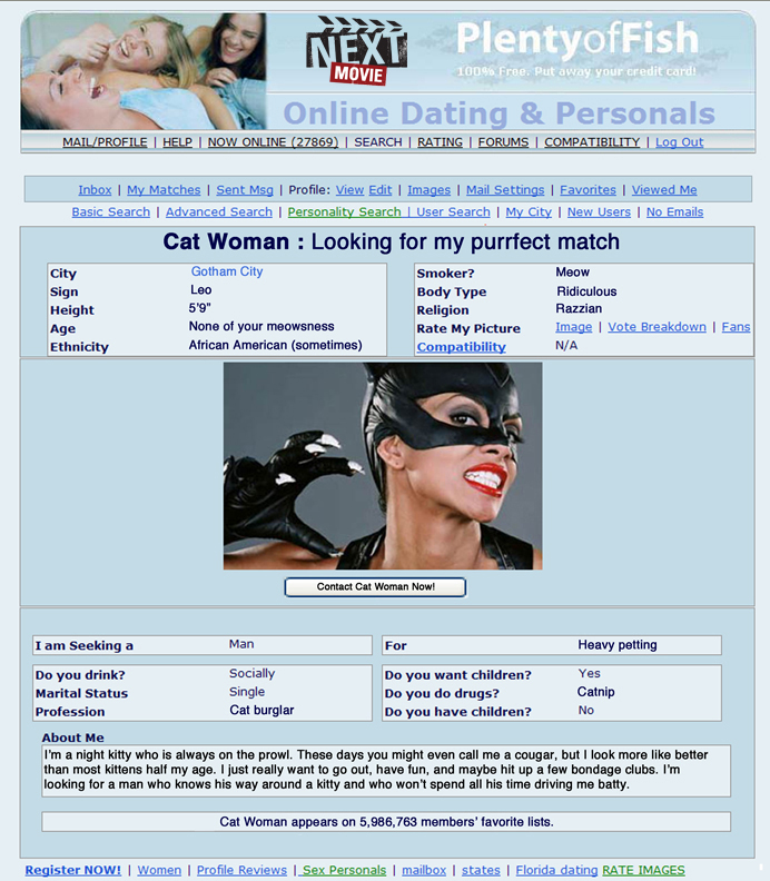 View online dating profiles