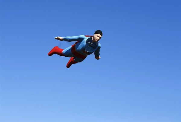 Its a radio controlled superman circling the sky designtaxi designer otto dieffenbach has created a radio controlled superman plane that is capable of flying publicscrutiny Images