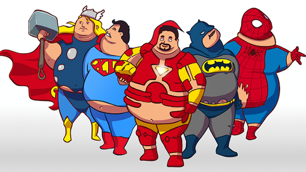 Supersized Heroes: How Superheroes Would Look If They Got ...