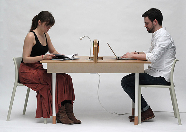 This Transforming Table For Two Can Sit Six Designtaxi Com