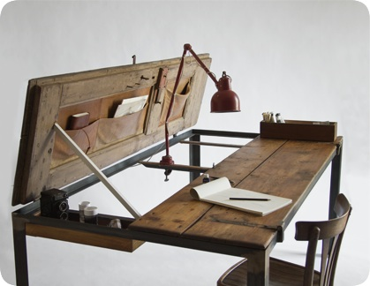 MultiFunctional Table Fashioned Out Of An Old Door  DesignTAXIcom