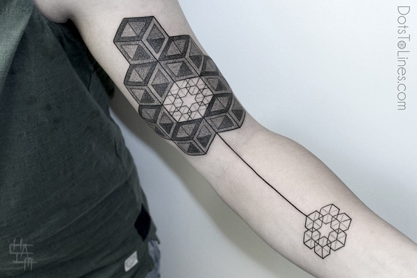 Lines And Dots Tattoo