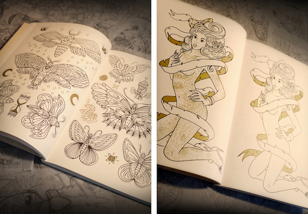 The Tattoo Coloring Book Is Packed With Inspiring Hand Drawn