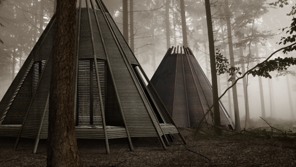 An Innovative Tipi Inspired Portable Cabin That Can Be