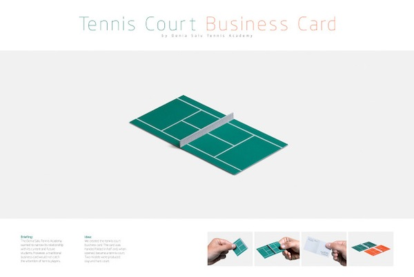 The End Result Is A Creative Business Card That Will Grab Attention Of Tennis Players And Non Alike Doubling As Advertising Material For