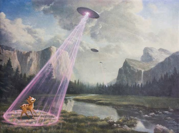 Surreal Paintings Depict Distant Future Of Earth Attacked