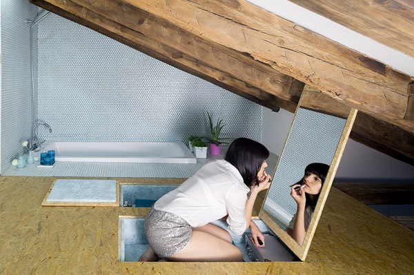 A hidden trapdoor in the floor opens to reveal a secret dressing room with the empty space forming a \u0027seat\u0027 & An Incredibly Fun Madrid Apartment Full Of Hidden Compartments And ...