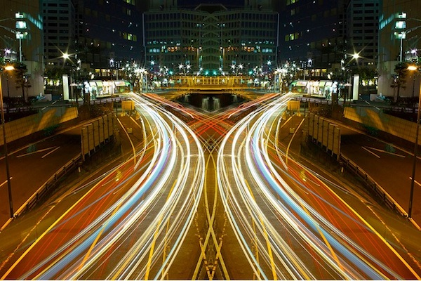 Magnificent Symmetrical Long Exposures Of Nighttime Japan