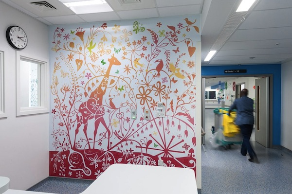 whimsical nature themed murals brighten up a children s