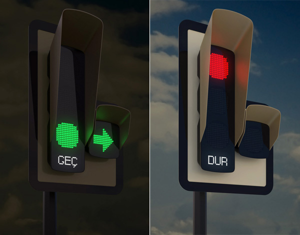 a city in turkey unveils new design for traffic lights