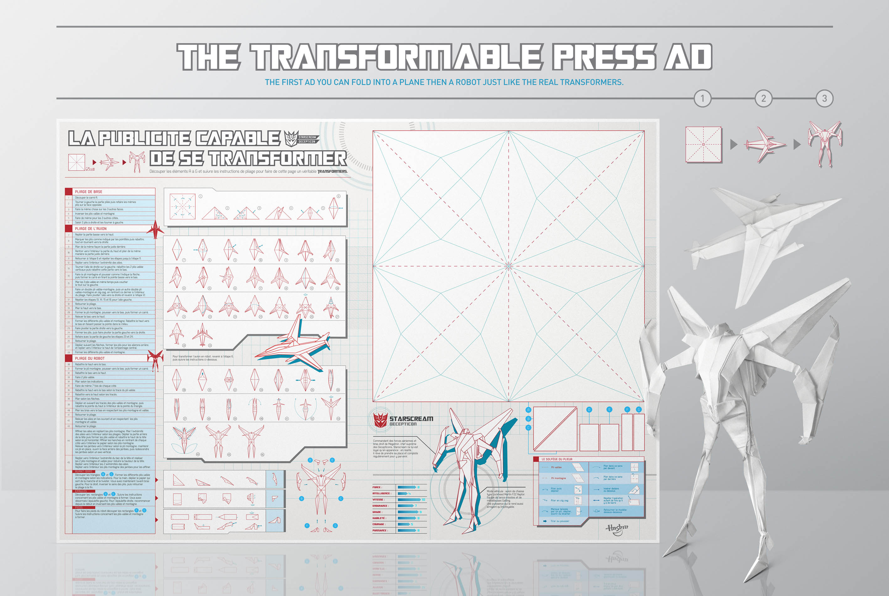 An Origami Transformers Ad You Can Fold Into A Plane And Then Robot