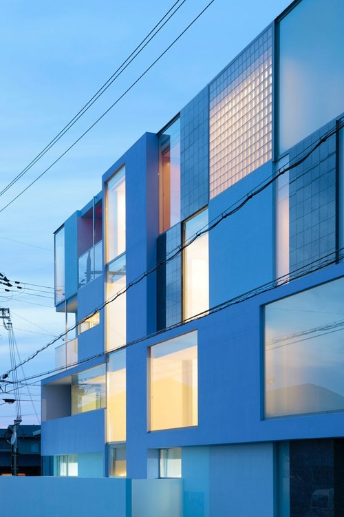 In Japan A Triangular Apartment Building Designtaxi Com