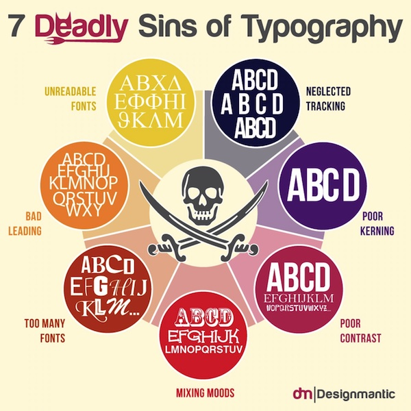 7 Design Mistakes To Avoid In Your Hall: Infographic: The 7 Deadly Sins Of Typography To Avoid