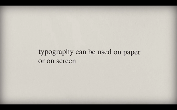Charming Animation Shows The Evolution Of Typography From Paper To Screen