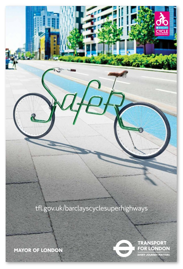 London Cycling Ads Feature Cool Bicycles With Typographic