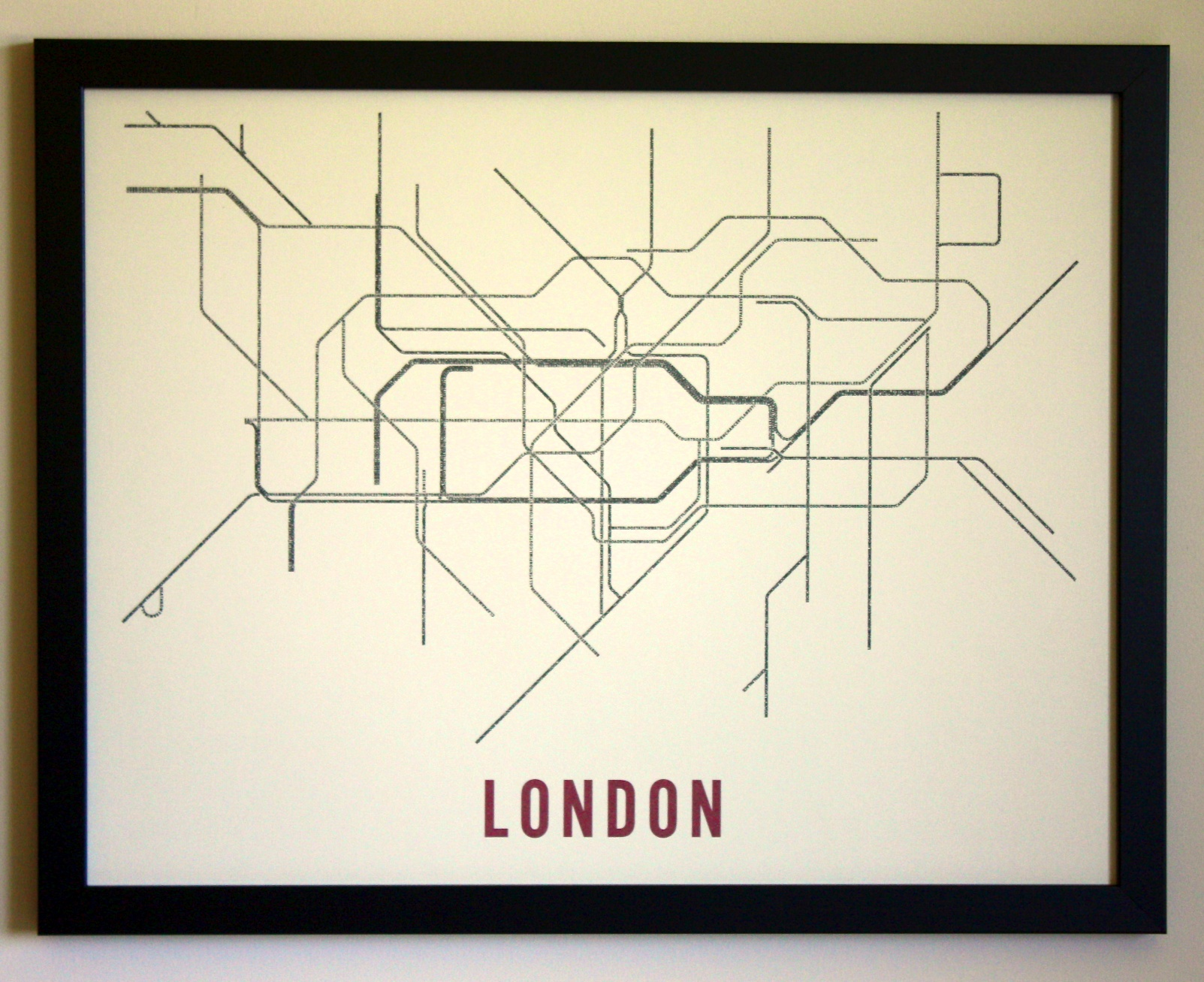 Transit Maps Of London Nyc Created With Typography