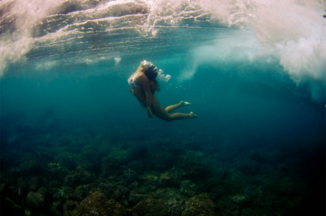 Ethereal Underwater Photography Of People In Acrobatic