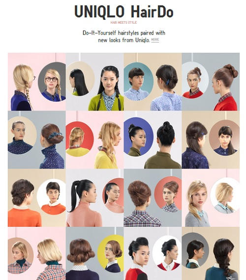 UNIQLO Launches A DIY Hairstyle Website - DesignTAXI.com