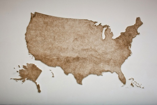 Artist Creates US Map With Matches Sets It On Fire - Artistic map of us
