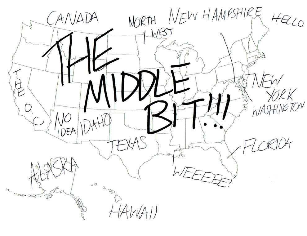 Brits Asked To Identify The States Of USA Give Hilarious - How to draw basic us map