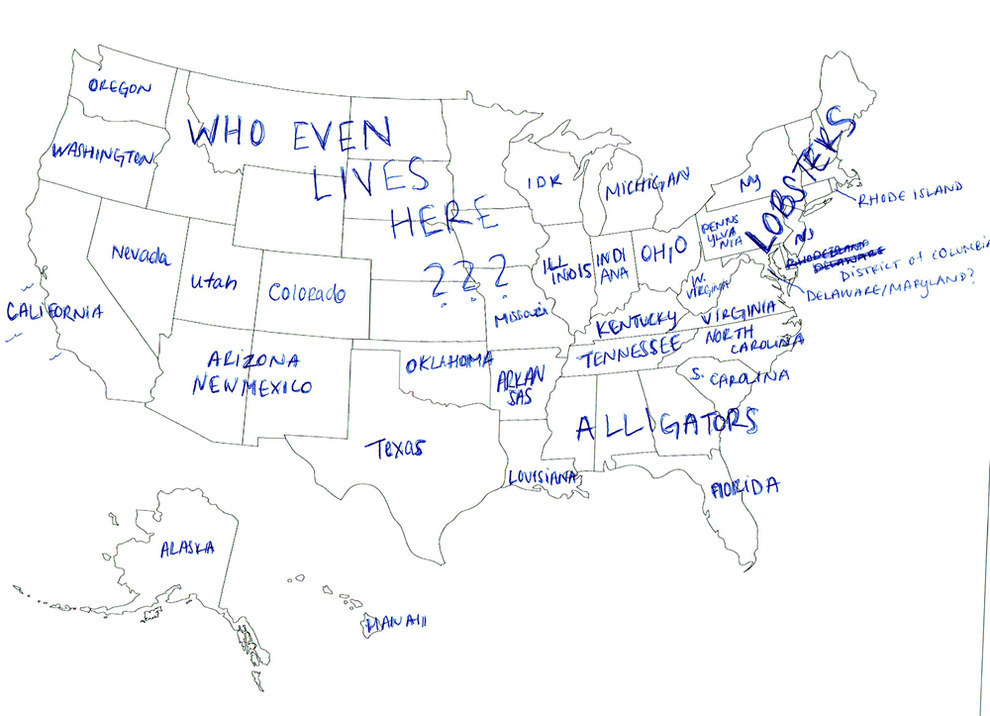 Brits Asked To Identify The 50 States Of USA, Give Hilarious ... on 50 states word bank, 50 states math, 50 states practice test, 50 states paper test, 50 states map answers, 50 states memory, 50 states quizzes, printable 50 states test, 50 states study guide, 50 states political map, 50 us states test, 50 states and their abbreviations, 50 states and capitals, 50 states blank map, 50 states practice sheet, 50 states study for test, print state test, 50 states map history, 50 states map work, 50 states map book,