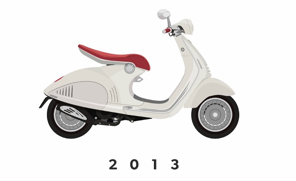 Animation: The Evolution Of Vespas From 1943 To 2013