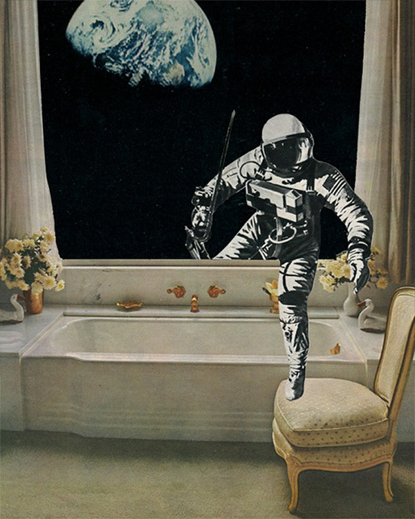 Wonderful, Other-Worldly Pop Art Collages Made From Vintage