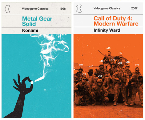 Designer Converts Video Games into Vintage Book Covers