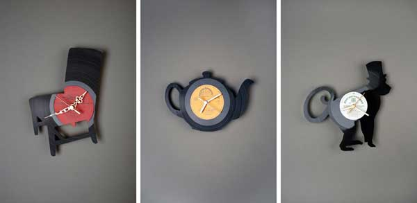 Upcycled Clocks Made Out Of Old Vinyl Disks Designtaxi Com
