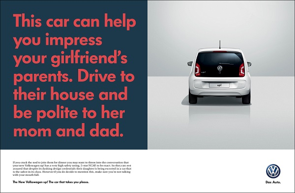 cheeky volkswagen ads show how its cars help you get ahead