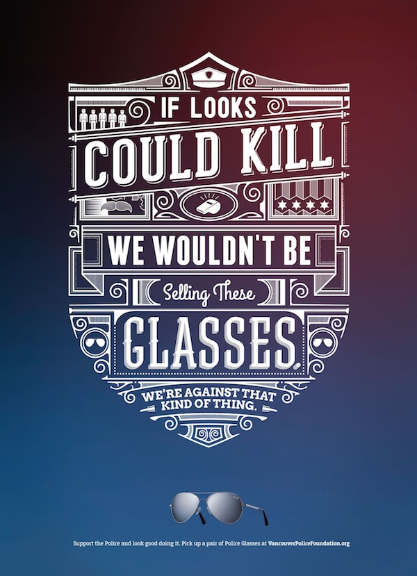 Typographic Poster Ads For Police Sunglasses Feature Clever