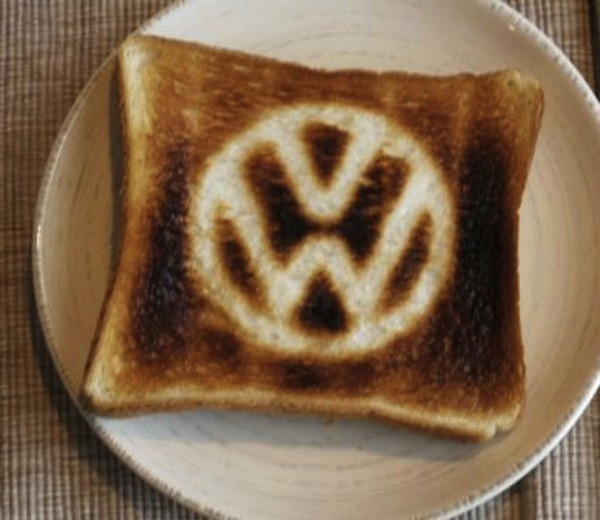 Adorable Volkswagen Minibus Toaster Burns Vw Logo On