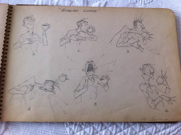 Illustrations From A Veteran's Sketchbook During WWII