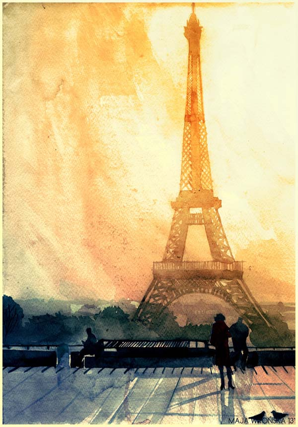 Vibrant Watercolor Paintings Of World Famous Landmarks And ...